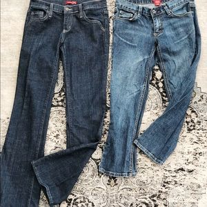 Two pairs of jeans